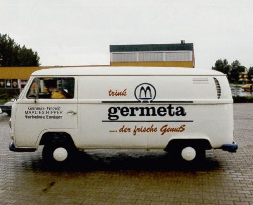 Alter VW Bus Germeta seitlich
